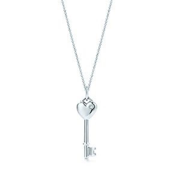 Tiffany co jewelry tiffany heart key pendant with diamond 18 jewelry tiffany heart key pendant with diamond 18 chain aloadofball Image collections
